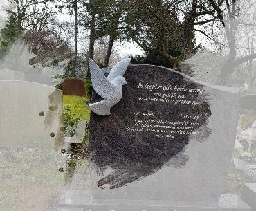 hand gehakte duif van graniet