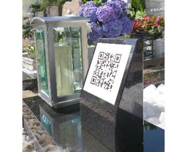 QR-code op grafsteen