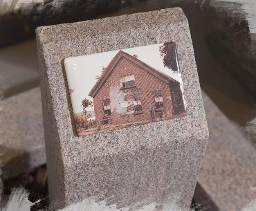 Grafsteen met Keramiek met foto afbeelding