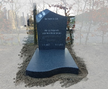 Kindergrafsteen Impala graniet