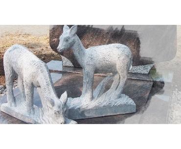 Alpaka grafsteen gemaakt van graniet