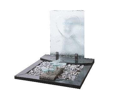 Speciale glasplaat met vlinders van glas