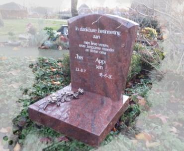 urnen grafsteen te Harmelen