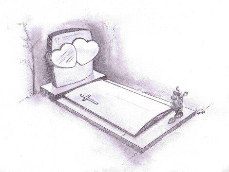 Schetsen van het grafmonument