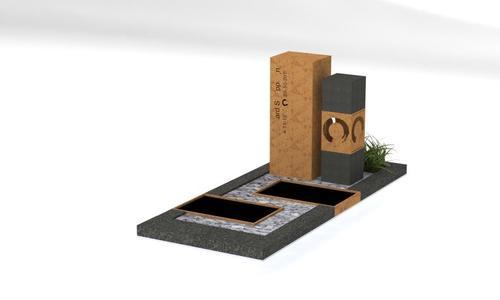 grafsteen 3d-tekening cortenstaal